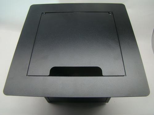 caixa palco / piso 5 xlr e rj45  4 tomadas ac nbr estúdio auditório teatro púlpito interface