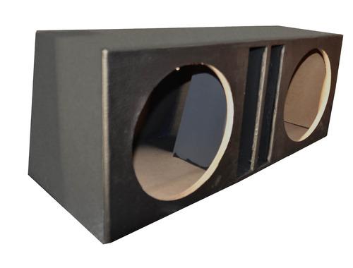 caixa para 2 alto falantes 15'' com duto vertical mdf