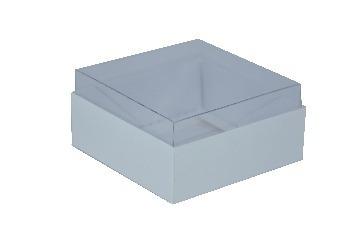 caixa para 4 doces 8x8x4 cm - branca - embalagem com 60 un.