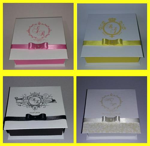 caixa para convite e lembrança dos padrinhos