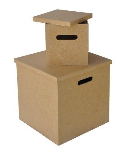 caixa para disco / lp / vinil em mdf cru