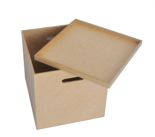 caixa para disco / lp / vinil em mdf cru oferta