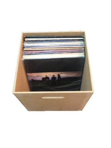 caixa para disco / lp / vinil mdf cru oferta