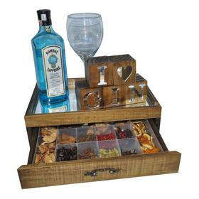 Caixa Para Especiarias Gin Pinus Luxo