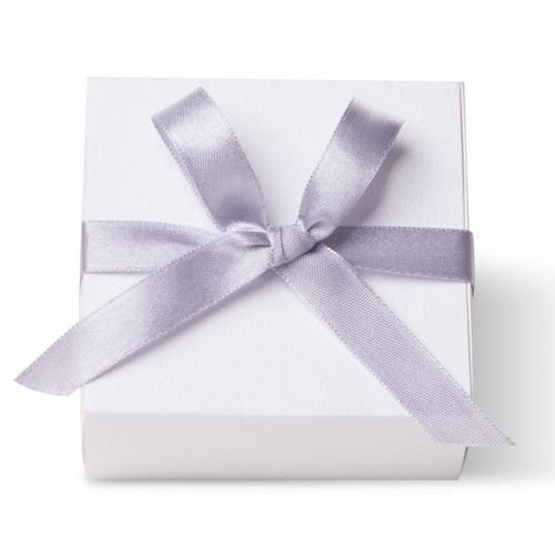 caixa para lembrancinha quadrada branco cetim graf