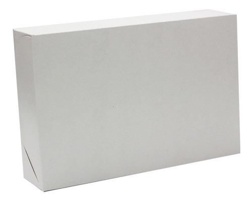 caixa para presente 15,5 x 22 x 5 cm branca com 20 unidades
