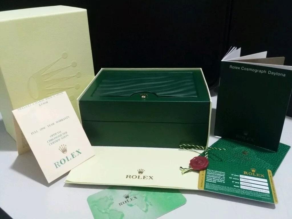 748ea4f515a caixa para relogios rolex original medalha manual card 012. Carregando zoom.