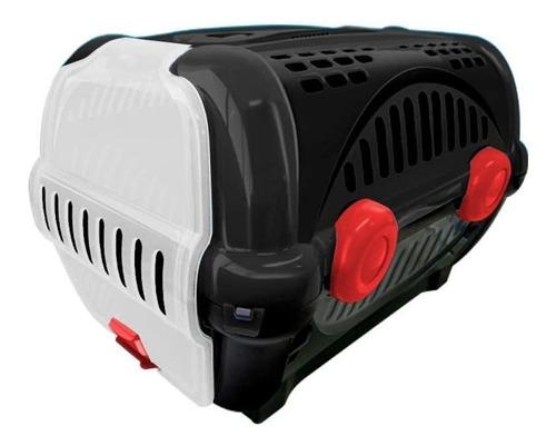 caixa para transporte de cães e gatos luxo n.1 preta black