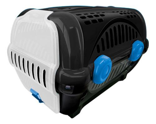 caixa para transporte de cães e gatos luxo n.1 preta furacão