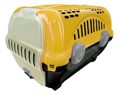 caixa para transporte de cães e gatos luxo n.2 amarela