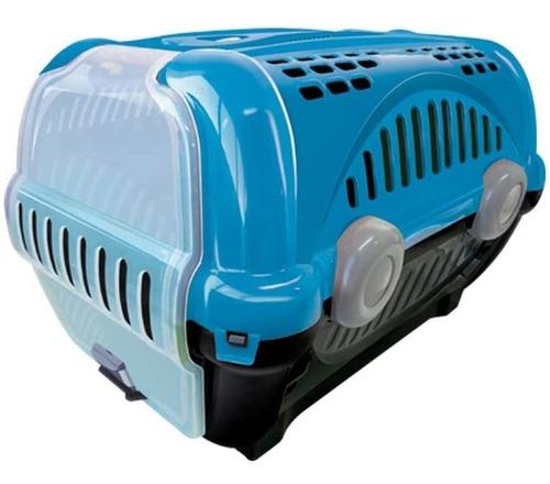 caixa para transporte de cães e gatos luxo n.2 azul furacão