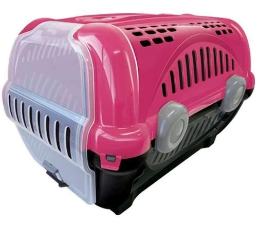 caixa para transporte de cães e gatos luxo n.2 rosa furacão