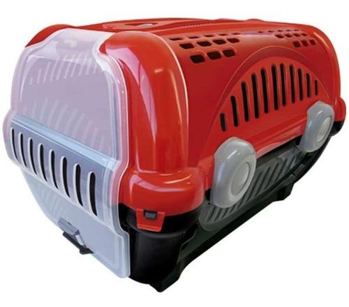 caixa para transporte de cães e gatos luxo n.2 vermelha