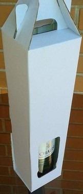 caixa para vinho c/alça 1 garrafa - embalagem com 20unidades