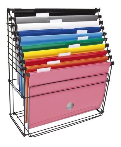 caixa p/arquivo aramado c/10 pastas suspensas
