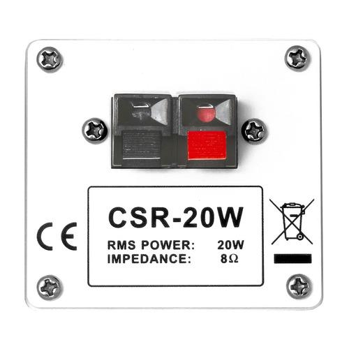 caixa passiva 20w branca c/ suporte (par) csr 20 - csr