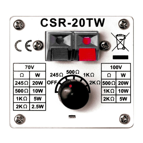 caixa passiva 20w branca c/ suporte (par) csr 20 tw - csr