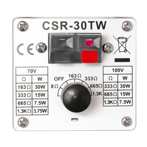 caixa passiva 30w branca c/ suporte (par) csr 30 tw - csr