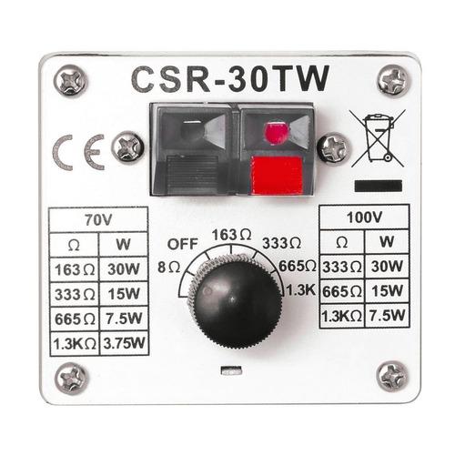 caixa passiva 30w branca com suporte (par) csr 30 tw