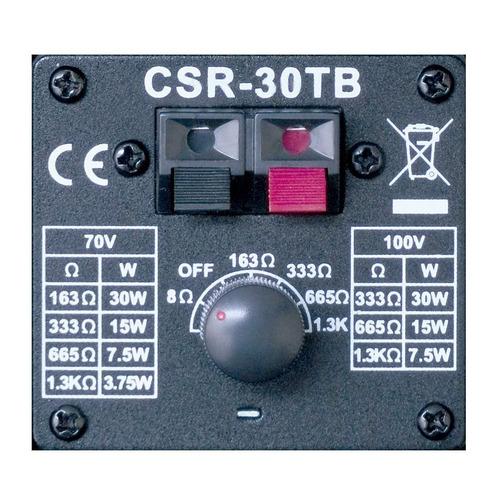caixa passiva 30w preta c/ suporte (par) csr 30 tb - csr