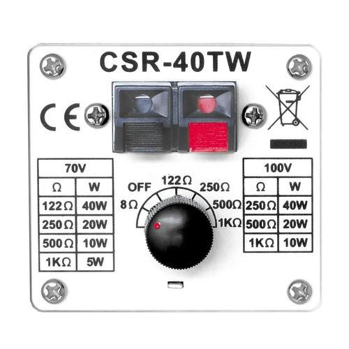 caixa passiva 40w branca c/ suporte (par) csr 40 tw - csr