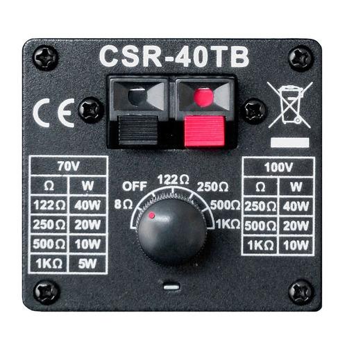 caixa passiva 40w preta c/ suporte ( par ) csr 40 tb - csr