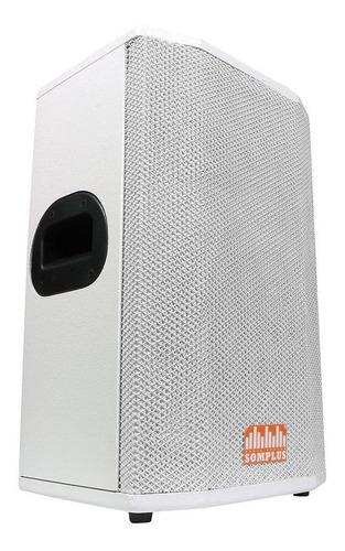 caixa passiva somplus branca 10 polegadas 150w sp102vias