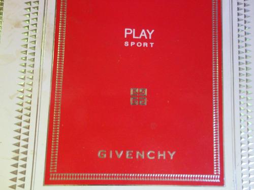 caixa perfume vazia givenchy pal sports