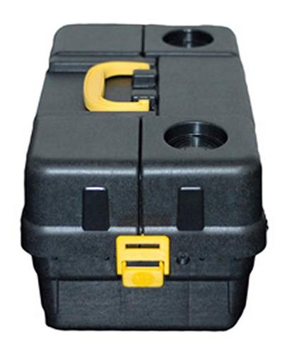 caixa pesca 6 bandejas articuladas hi 6bj completa enrolador