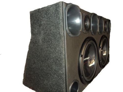 caixa pioneer tsw309+corneteira tsr pronta para usar