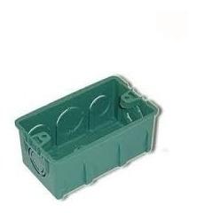 caixa plastica 4x2 luz verde cx/100