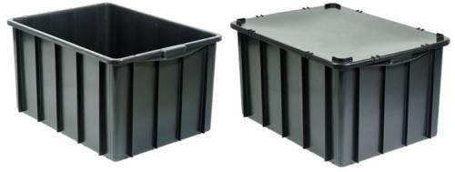 Caixa pl stica fechada organizadora 130 litros com tampa for Tartarughiera in plastica grande