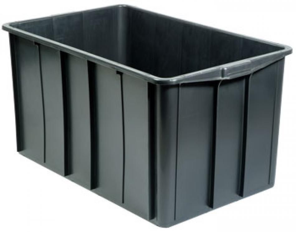 Caixa pl stica fechada organizadora 180 litros com tampa for Tartarughiera in plastica grande
