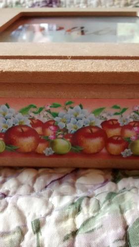 caixa porta chá tampa vidro jateado, linda, aproveite!!!!