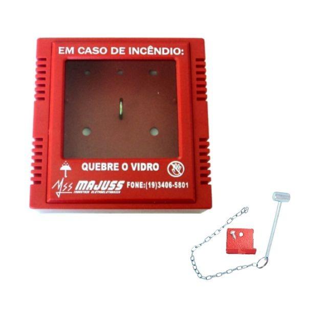 b27b8fffcdde9 Caixa Porta Chave De Acesso C  Martelinho Quebra Vidro - R  36