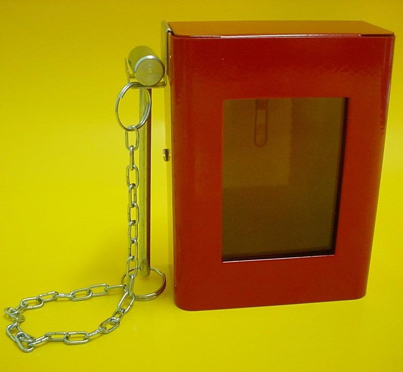 dee24a1b1d756 caixa porta chaves com martelinho quebra vidro. Carregando zoom.