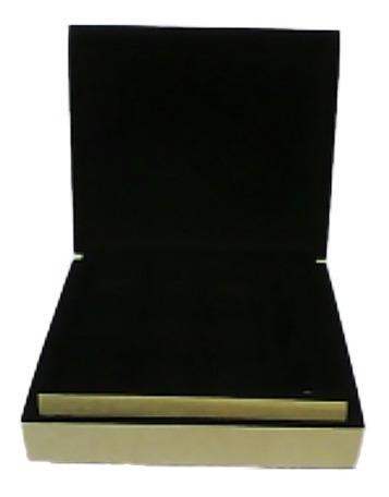 caixa porta joias flocada