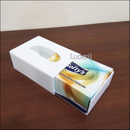 caixa porta lenços de papel em acrílico (pequena)
