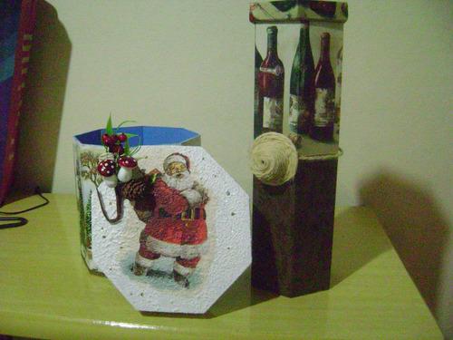 caixa porta panetone e caixa porta vinho