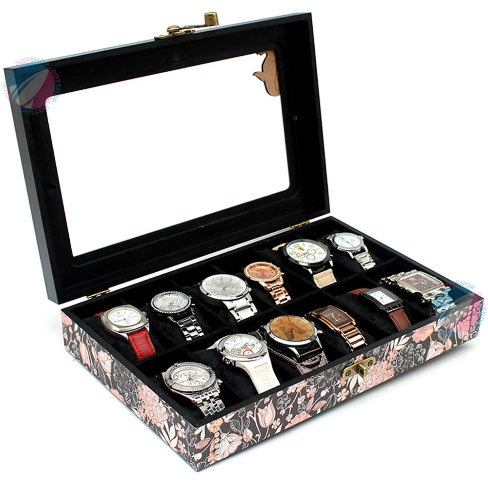 3373b6fe1 caixa porta relógio masculino luxo organizador 12 casulos. Carregando zoom.