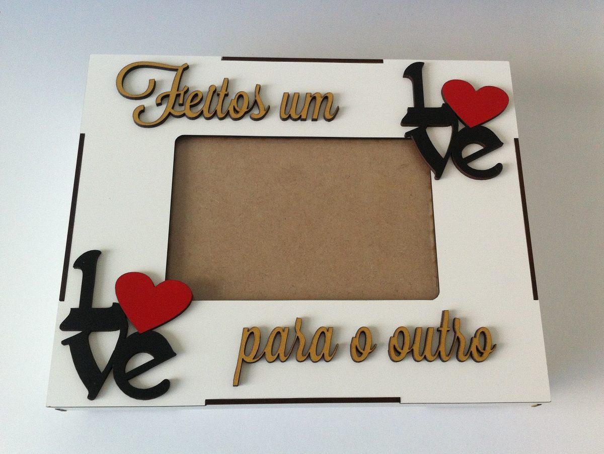 53ed58a3ae5 Caixa Porta Retrato Love Para Namorados Noivos - R  45