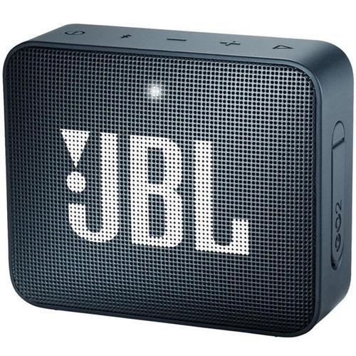 caixa portátil jbl box go2 - 3w navy bluetooth prova d'águ