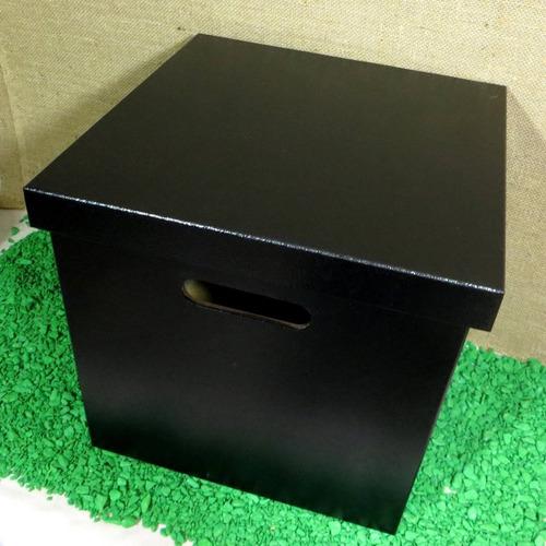 caixa preto para 80 disco / lp / vinil - long play - pintado