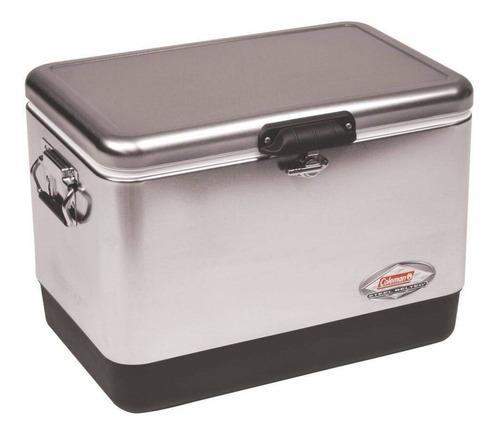 caixa recipiente térmico aço inoxidável coleman 54qt 51 litr