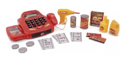caixa registradora infantil carros com ferramentas furadeira