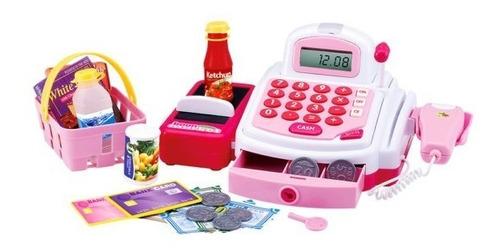caixa registradora infantil meninas brinquedo com acessórios
