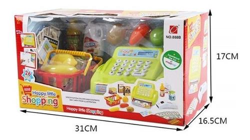 caixa registradora infantil menino menina verde 26 acessorio