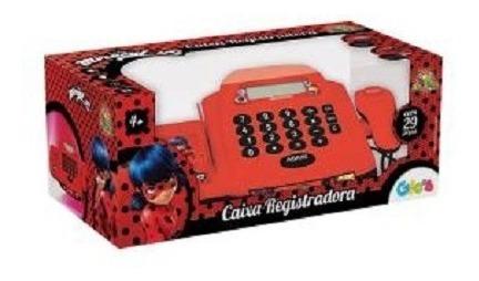 caixa registradora miraculos ladybug infantil 2 em 1 20pçs
