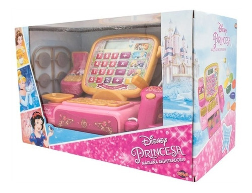 caixa registradora princesas disney infantil calculadora lcd