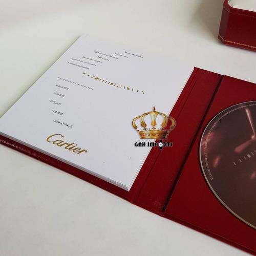 caixa relógio cartier box estojo completo novo com cd